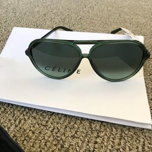 4882f669eb6 Celine Accessories - Celine green aviator sunglasses